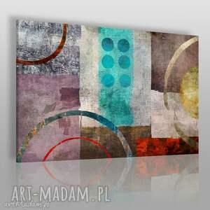 obraz na płótnie - abstrakcja mozaika 120x80 cm 37801, abstrakcja, nowoczesny