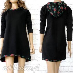 ręcznie zrobione sukienki sukienka tunika dresowa black folk góralska cleo