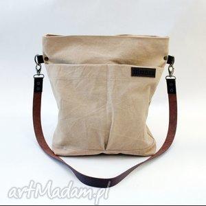 beżowa, kieszenie 2, kieszenie, flisanna torebki