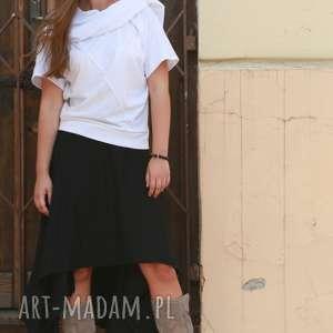 spódnice asymetryczna spódnica, czarna boho elegancka