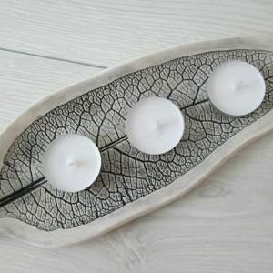 appetizer ceramiczny liść, na, przekąski, roślinna, ceramika, talerzyk,