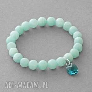 jade with swarovski pendant in mint