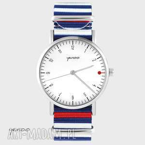 Prezent Zegarek, bransoletka - Simple elegance, biały paski, nato, zegarek