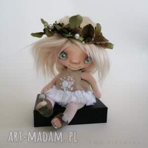 dekoracje szkrab zu - lalka kolekcjonerska figurka tekstylna ręcznie szyta
