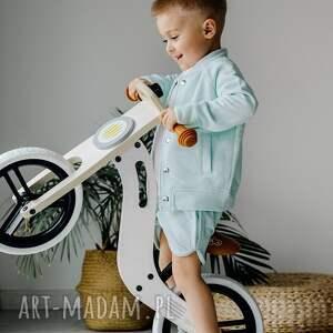 komplet dla chłopca przecierany jeans miętowy, chłopiec, rękodzieło, dres