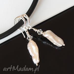 Perły i swarovski akadi 1 perły, swarovski, srebro, ślub,