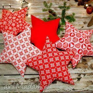 prezent pod choinkę Idą Święta! Poduszka gwiazda - 5 wzorów, święta, poduszka