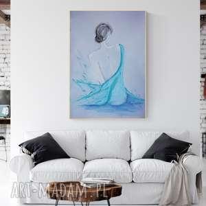 grafika 70 x 100 cm wykonana ręcznie, plakat, abstrakcja, elegancki minimalizm
