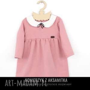 sukienka z aksamitka i kolnierzykiem - kolnierzykiem, aksamitka