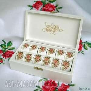 Różane - pierścienie do serwetek ślub hanutka prezent, ślubny