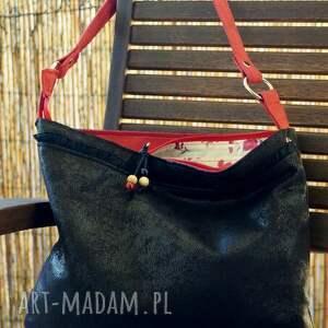 torba hobo na ramię, torebka, róże, kwiaty, koraliki, codzienna, prezent, prezent