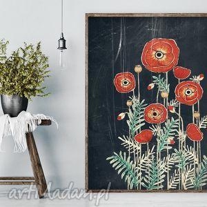 Maki 50x70cm, plakat, dom, maki, kwiaty, rysunek