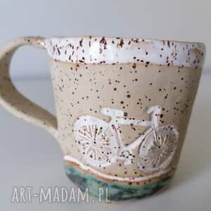 ceramika kubek nie tylko dla rowerzystów, rękodzieło, z gliny
