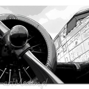 obrazy obraz xxl samolot 1 - 120x70cm na płótnie duży