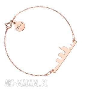 bransoletka z różowego złota mediolan, bransoletka, włochy, street