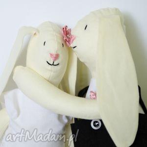 Króliki ślubne - idealny prezent dla młodej pary ślub niafniaf