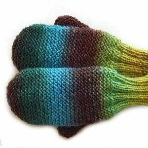 Wełniane rękawiczki, jednopalczaste, wełniane,