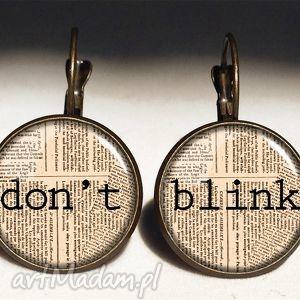 egginegg don t blink - duże kolczyki wiszące, doctor, who