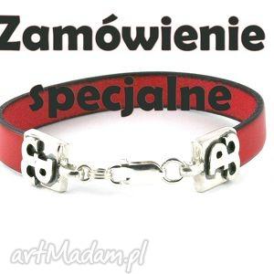 hand-made męska bransoleta polska walcząca zamówienie specjalne