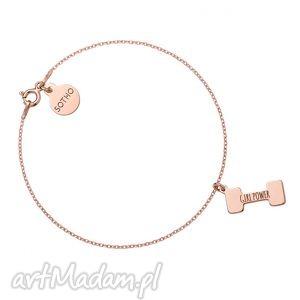 bransoletka z różowego złota ciężarek girl power sotho