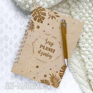 notes w drewnianej oprawie - tropiki, notes, planer, szkicownik, pamiętnik