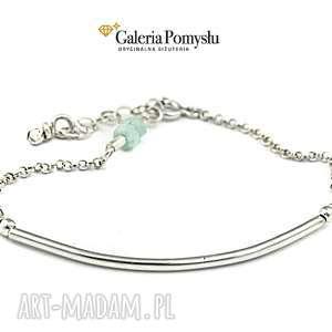 Bransoletka z amazonitem, bransoletka, srebro, 925, amazonit, minimalizm