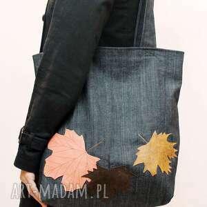pod choinkę prezent, na zakupy jesienna, liście, jeans, zakupy