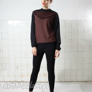 bluza, bordo, bordowa, czarna
