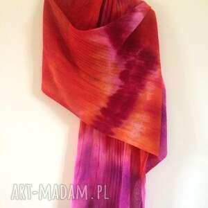 ręcznie wykonane szaliki radosny wełniany szal