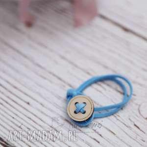 Bransoletka na rzemyku Julia (Błękitny), biżuteria
