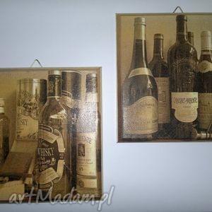 święta prezent, obrazek -whisky wine, obrazek, obrazki, sepia, retro, decoupage