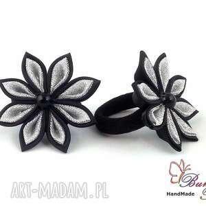 zamówienie indywidualne gumek z kwiatuszkami, opaska