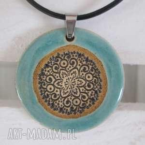 świąteczny prezent, naszyjnik blue etno 2, ceramiczny, ceramiczny