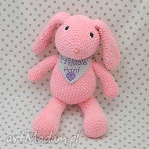 króliczek pinki - maskotka szydełkowa, królik, króliczek, maskotka, róż, szydełkowa