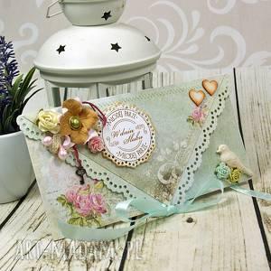 Prezent Kartka z okazji ślubu- różany ogród, ślub, ślubna, kopertówka