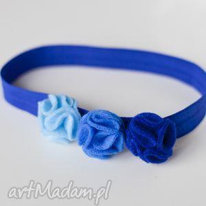 ręcznie wykonane pomysł na prezent świąteczny opaska niemowlęca - błękitne fale