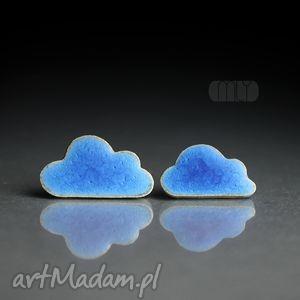 Cumulusy, chmurki, ceramika, kamionka, sztyfty, wkrętki, błękitne
