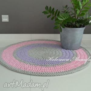 dywan bawełniany pastelek 140cm ze sznurka - kolorowa manufaktura