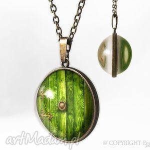 kulisty dwustronny medalion chatka hobbita - 0332spb - naszyjnik