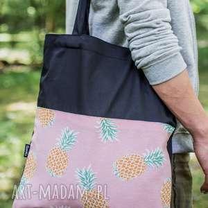 torba siatka w ananasy, siatka, różowa, torba, summer