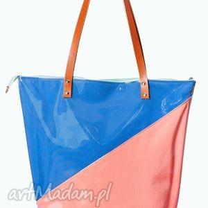 torba shopper duo - duża, wodoodporna, lato, zakupy, folia