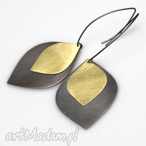 GOLD TEARS II kolczyki B920, kolczyki, miedź, mosiądz, oksydowane, srebro