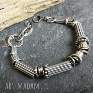 ręcznie robione bransoletka srebrna - unisex