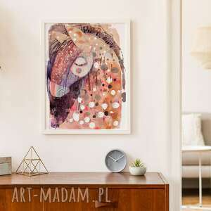plakat 40x50 cm - konik, plakat, wydruk, twarz, postać, kobieta, portret