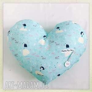 poduszka serce Śnieżka - mięta, śnieżka, serce
