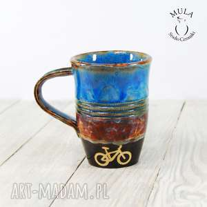 hand made ceramika kubek rower