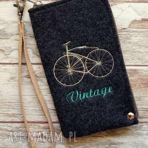 Prezent Filcowe etui na telefon - Vintage Bike, prezent, pokrowiec, smartfon, moro