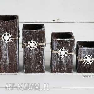 zestaw świątecznych świeczników 272 vairatka handmade