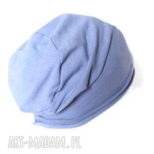 Niebieska dzianinowa czapka unisex czapki ruda klara czapka