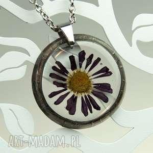 ręczne wykonanie naszyjniki z1016 naszyjnik z suszonymi kwiatami herbarium, biżuteria